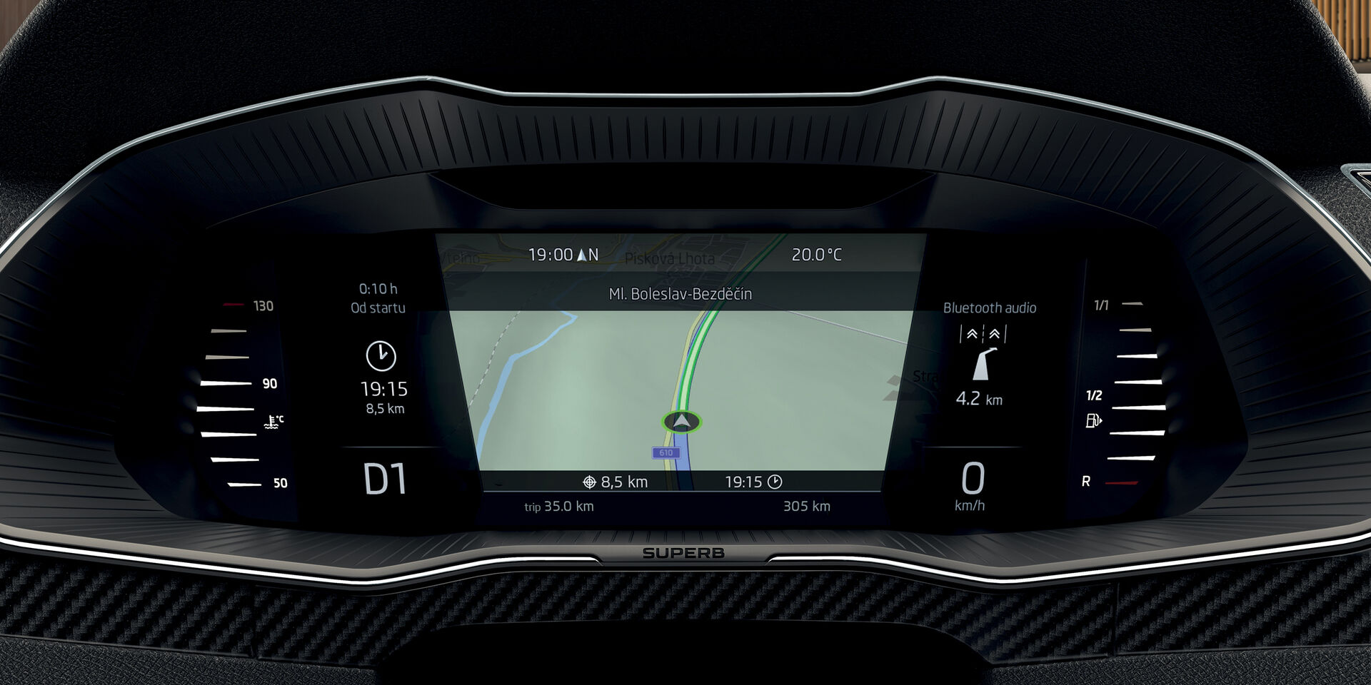 Virtual Cockpit im SKODA SUPERB